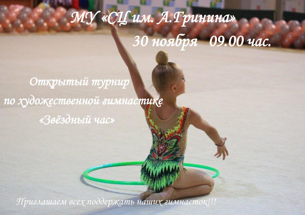 30 ноября состоится открытый турнир по художественной гимнастики «Звёздный час».