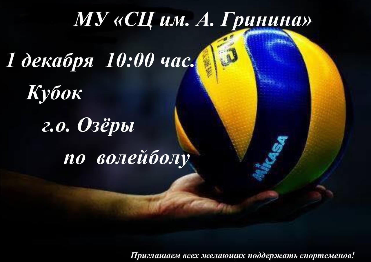 1 декабря состоится Кубок г.о. Озёры по волейболу.