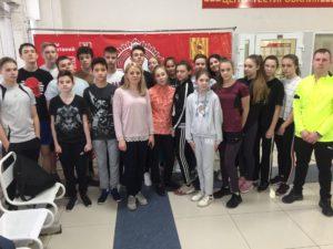 03 февраля 2020 года на базе МУ «СЦ им. А. Гринина» учащиеся 8-х классов МБОУ СОШ №6 выполнили нормативы ВФСК ГТО IV ступени.