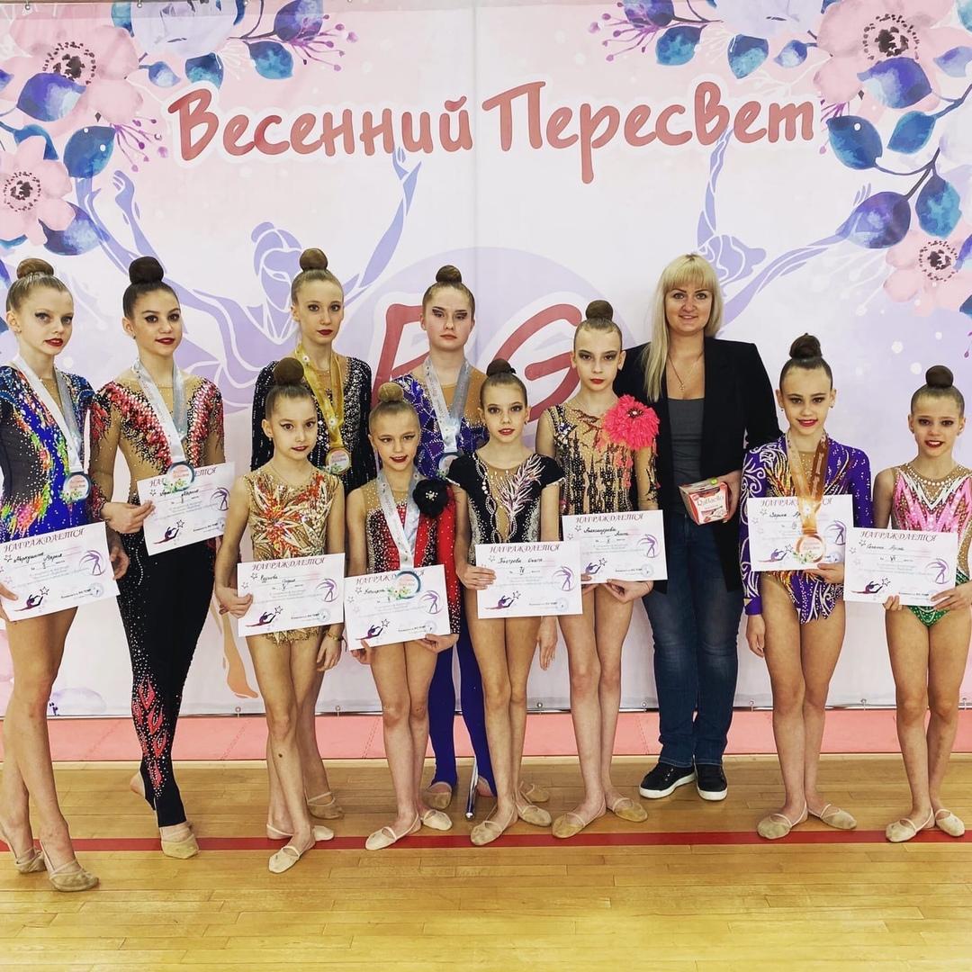 14 марта прошло Весеннее Первенство Пересвета по художественной гимнастике. Наш городской округ представили 18 спортсменок, воспитанниц Е.В. Крюковой.