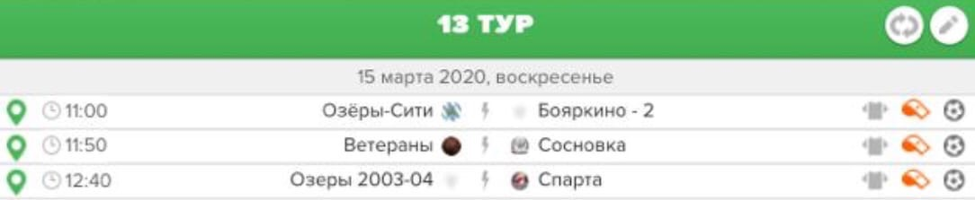 Первенство городского округа Озеры по мини-футболу.  «Первая лига».