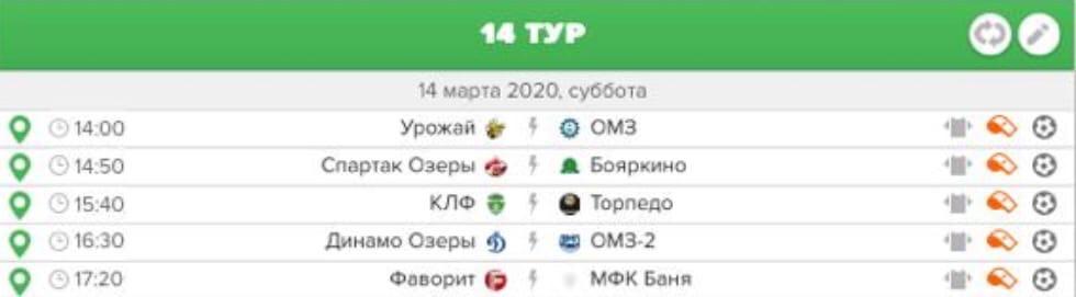 Первенство городского округа Озеры по мини-футболу.   «Премьер лига».